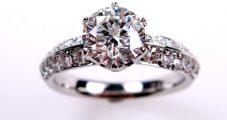 オーダージュエリー PT 1ct ダイヤモンド エンゲージリング