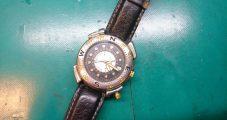 時計修理 レヴュートーメン コンパス付き 電池交換