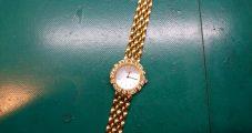 時計修理 クレドール K18ダイヤ入り 電池交換